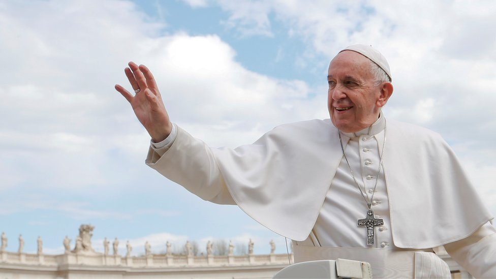 Pope warns oil bosses of climate threat