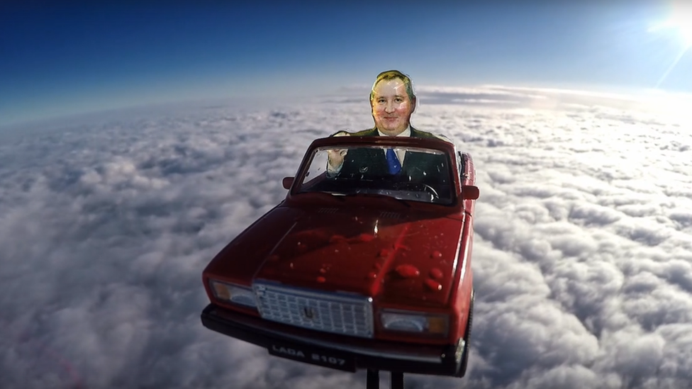 Russians send Soviet car model into stratosphere