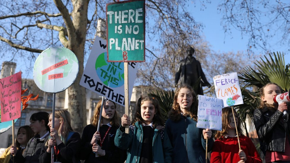 Schoolchildren go on strike over climate change