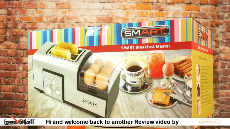 making breakfast boling eggs and making toast in the breakfast master