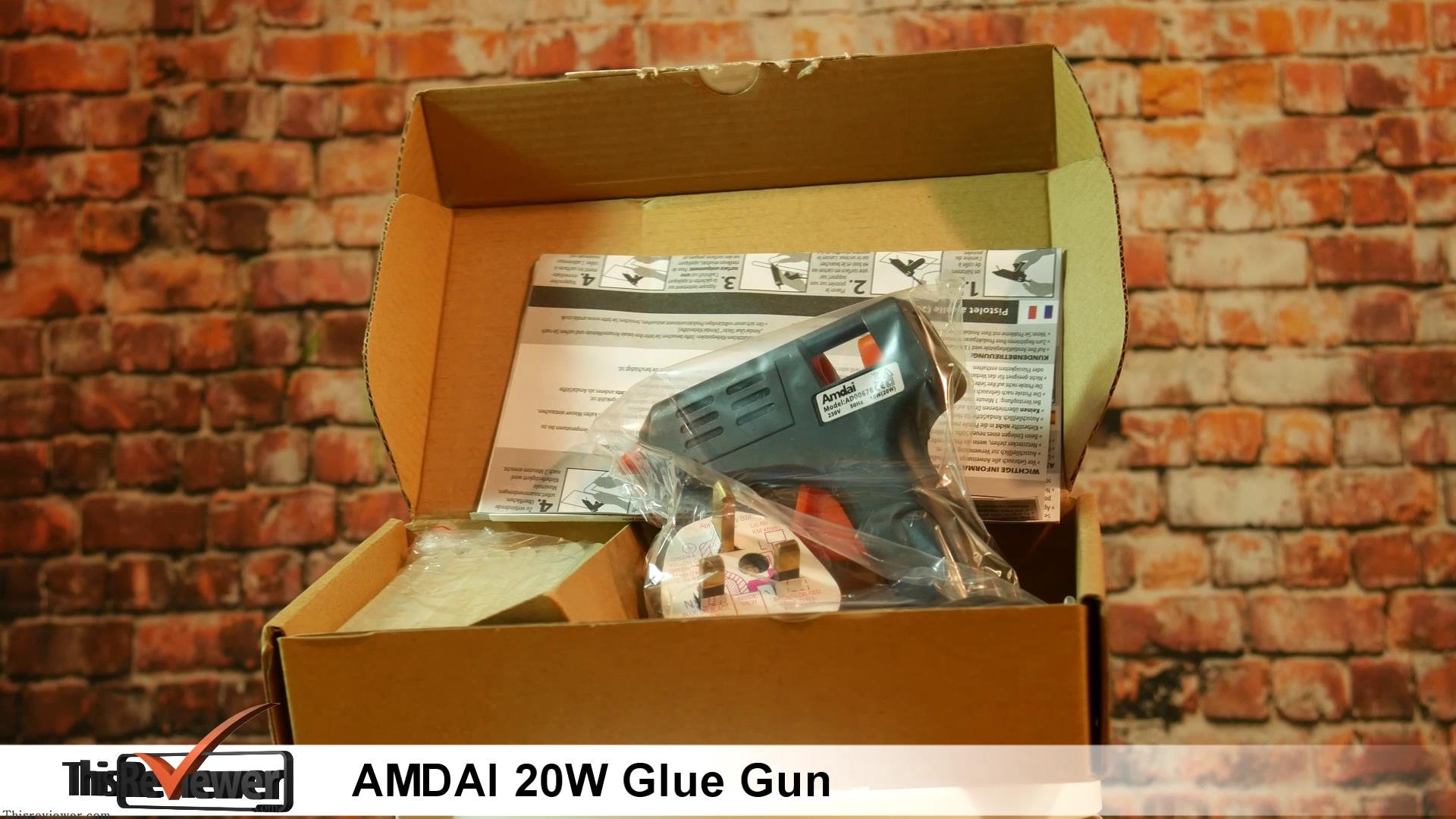 the amdai 20watt glue gun review