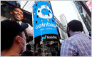 Coinbase shares close at $328.28, valuing the company at $85.78B, down from its open of $381; Nasdaq listed shares at $250 before Wednesday's open (Ari Levy/CNBC)