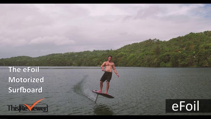flying_surfboard_actual_electric_powered_hydrofoil_technology_at_work using hydrofoil technology