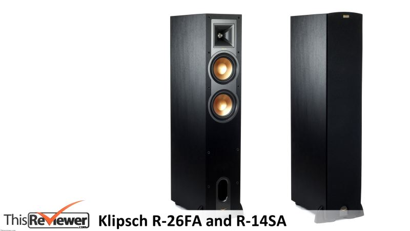 klipsch r-26fa and r-14sa speaker reviews